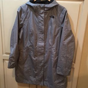 The north face long raincoat trench coat xl